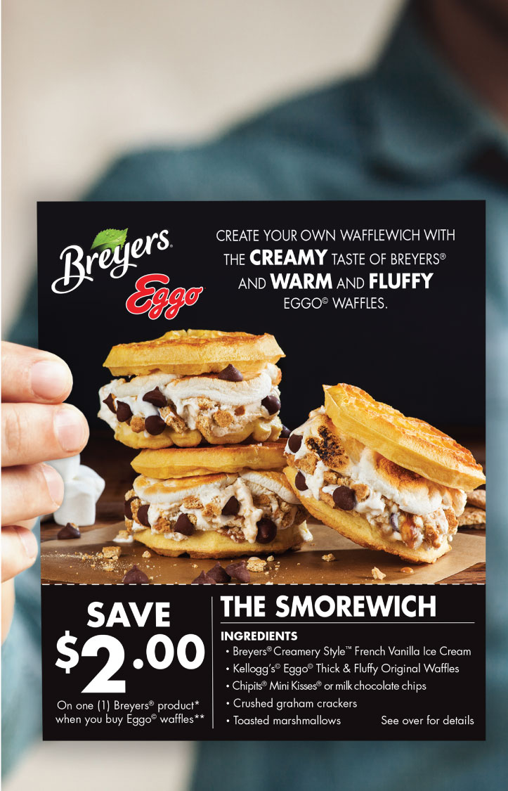 Breyers Ice Cream Recipe Card and Coupon